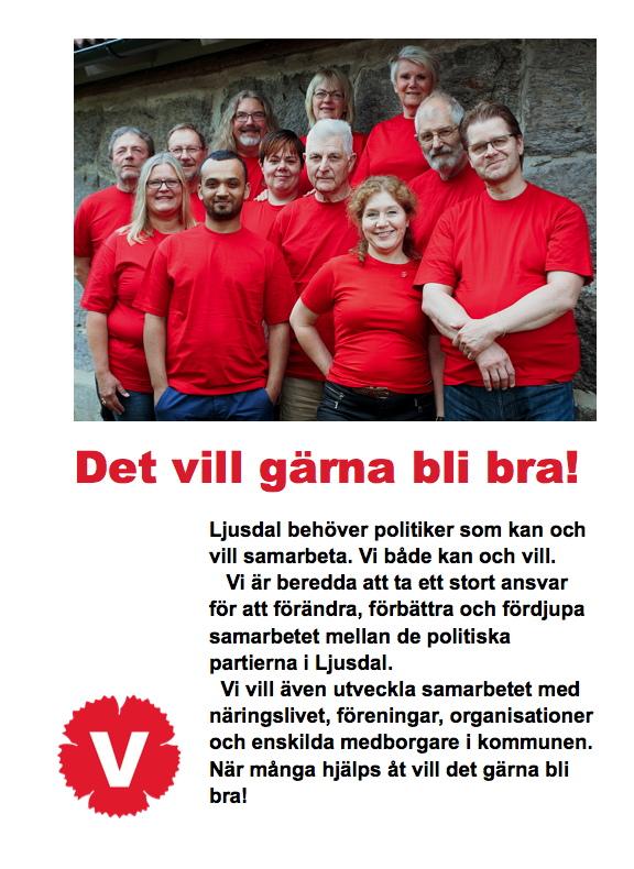 Vänsterpartiet Ljusdals kandidater till kommunfullmäktigevalet.